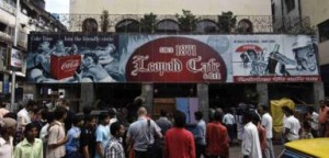 A defiant Leopold Cafe reopens after the carnage. Photo from timesonlin.com.uke